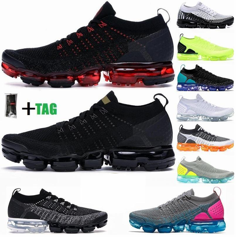 2021 Fly 2.0 Knit 3.0 Cushion Running Shoes Triple Black Metallic Gold CNY Dusty Cactus Cinder Ash Blue Mens Trainers Womens Sports Sneakers