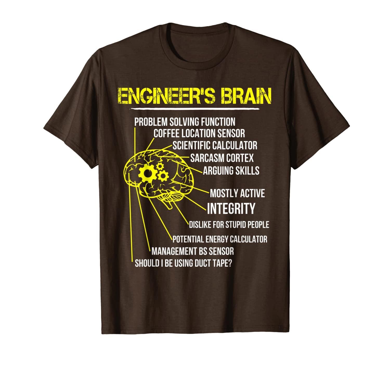 Dono divertente del cervello dell ingegnere per la maglietta dell ingegnere