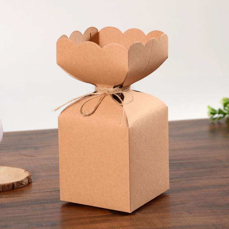 DIY Kraft Paper Рождество Apple Пакет коробок на день рождения Вечеринка конфеты коробка свадебный брак одобрения коробки