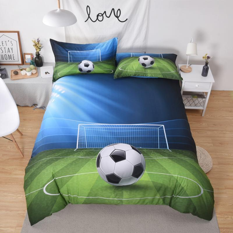 Football 3D Bedding Set Duvet Cover Queen King Size -1 Quilt Cover -2 Pillowcase. Breathable Soft and durable.