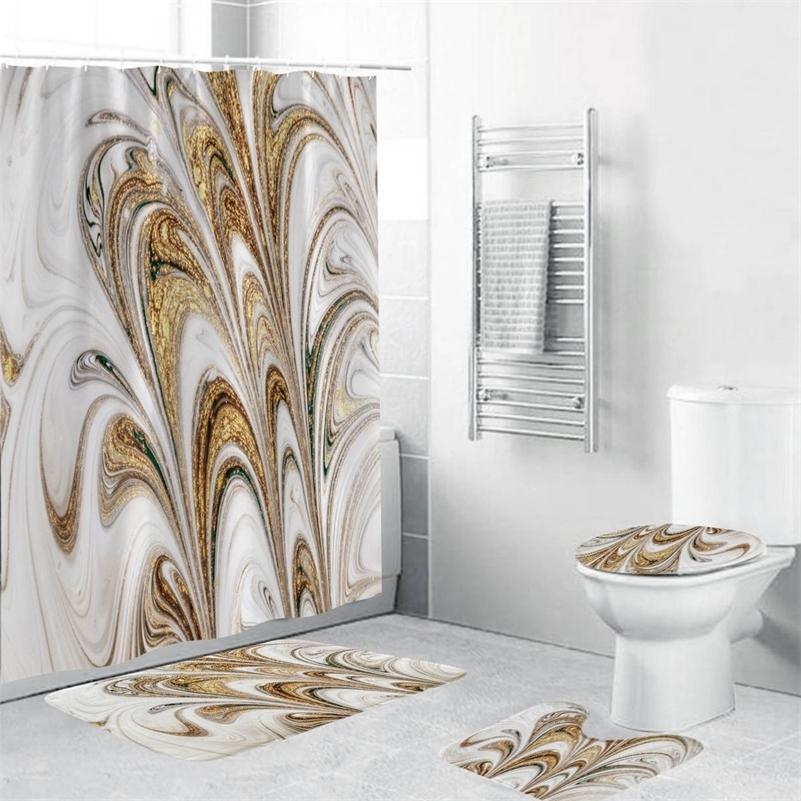 욕실 세트 방수 샤워 커튼이 아닌 미끄럼 매트 목욕 카펫 화장실 시트 커버 뚜껑 뚜껑 바닥 매트 욕실 장식 180cmx180cm LJ201130