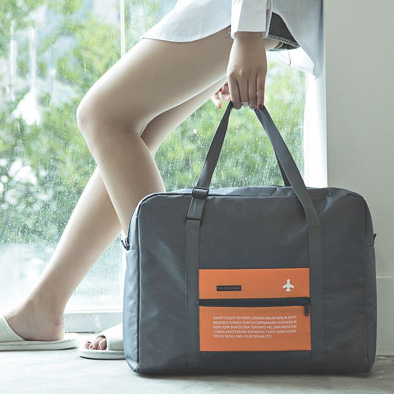 Bolsa de equipaje de poliéster plegable de gran capacidad Bolsa de almacenamiento de ropa impermeable Unisex Travel Bolsos Equipaje Empacado Organizador CCD3396