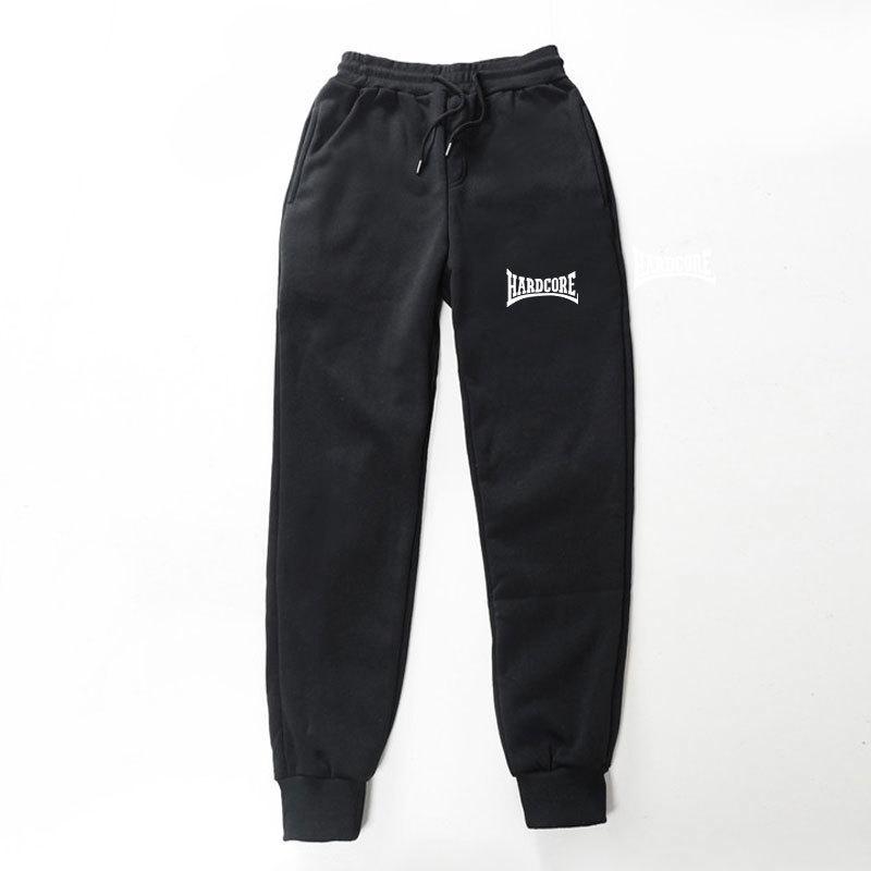 2019 Yeni Kalite Polar Pantolon Hardcore Mektup Baskılı Kadın Erkek Jogging Pantolon Hip Hop Streetwear Erkekler Sweatpants Balckgray C1118