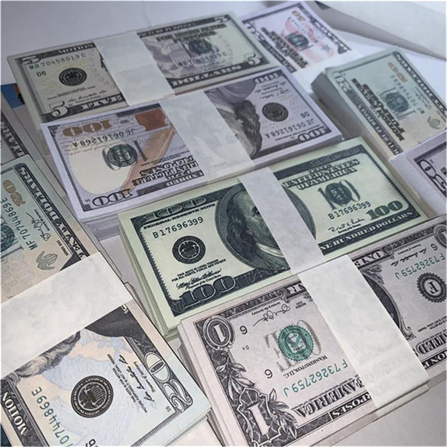 Simulieren Papiergeld Bar Atmosphäre Requisiten Fälschung Geld US-Währung Dollar Spiel Währung Kinder Lernen PAPION Währung Geld A4