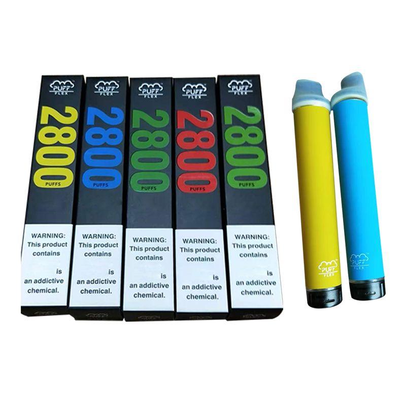 Original Puff Flex Display Dispositivo Vape Kits 2800 Puffs 1500mAh Bateria 10ml Cartuchos Prefigurados Vape Vape Pen Puff Barra Flex