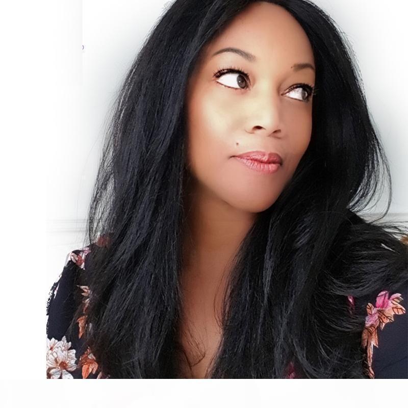 Indian Remy Yaki Lace Wig Hair Hair Hair Barato Brasileño Pre arrodillado Luz Yaki Sin Glueless Full Lace Pelucas de cabello humano para mujeres negras