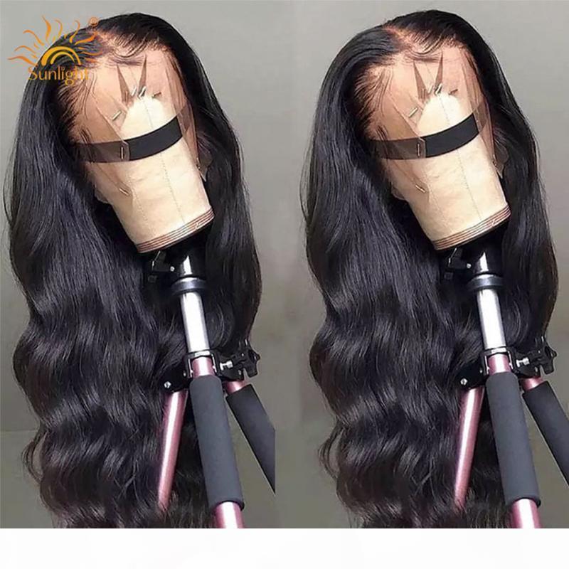 13x4 Body Wave WIG Frente Frente Pelucas para el cabello humano Pelucked para las mujeres Luz del sol Remy Brasil Pelucas de cabello humano