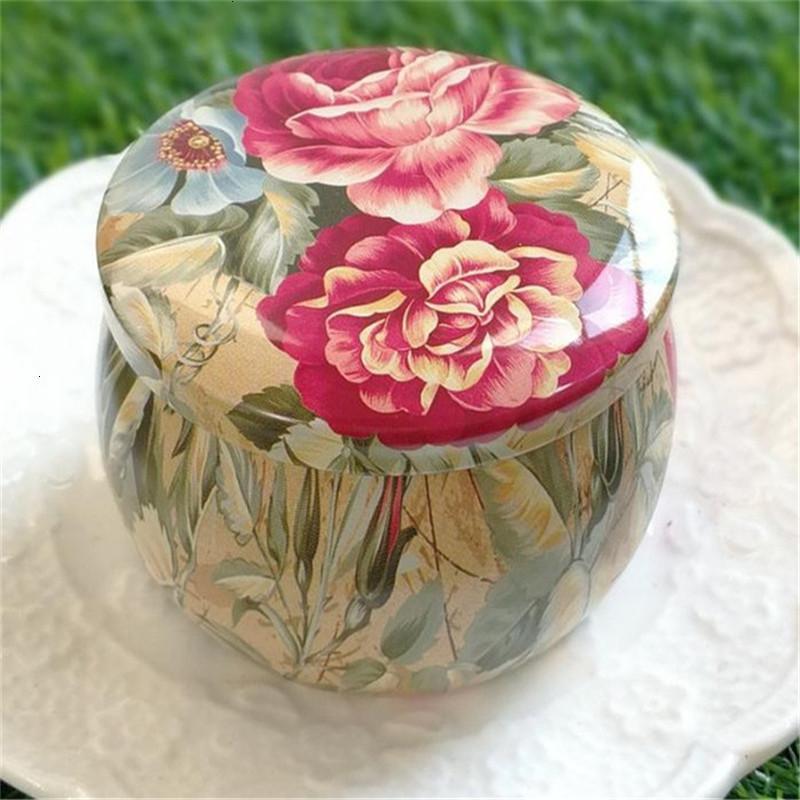 Чайник олова маленькая свежая роза домой сад личности барабанные конфеты Candy Box праздничная партия поставляет 5 нил6т