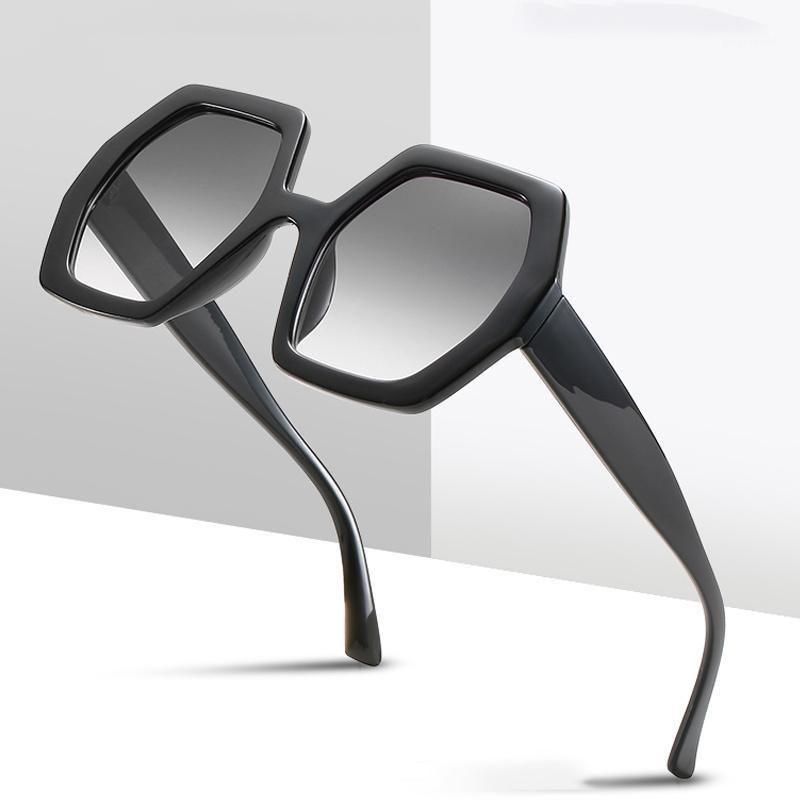 Occhiali da sole Trendy esagono donne colorate gradiente occhiali da sole femmina uv400 occhiali retrò irregolare ottagono ottagono