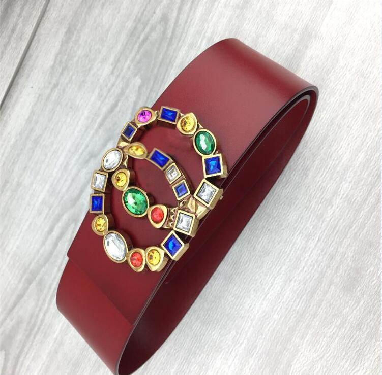 Cinturones de lujo / Cinturón de mujer Bronce Hebilla Cinturón de cuero genuino Cinturones clásicos Ceinture Hombres diseñadores Cinturones 7 cm Ancho Cinturones de mujer