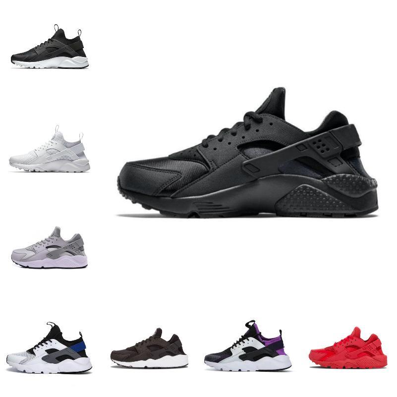 Satış Yeni Huarache 1.0 4.0 Erkekler Koşu Ayakkabıları Ucuz Airs Şerit Kırmızı Balck Beyaz Gül Huarakes Kadın Eğitmen Açık Tasarımcı Sneakers T875