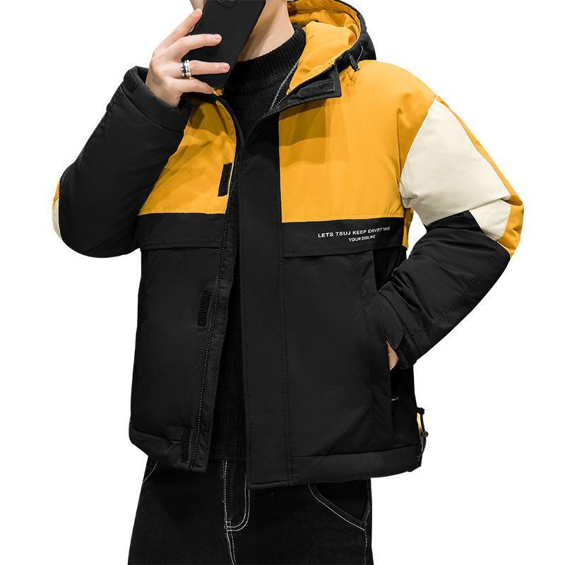 Erkek Kısa Ceket Kalınlaşmış 2020 Yeni Yakışıklı Gençlik Eğilim Beyaz Ördek Aşağı Ceket Sarı Yeşil Mavi Ücretsiz Kargo M-3XL