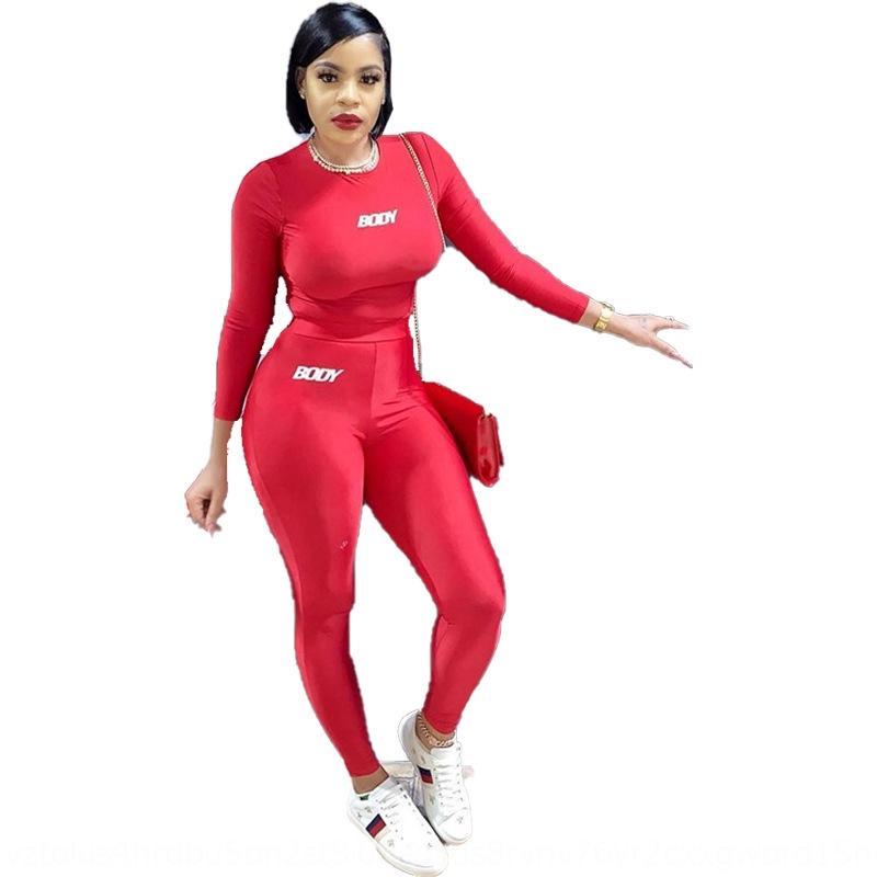X4xm 2020 Hot outono e inverno impressão de duas peças tracksuit de mangas amoras terno longo feminina calças senhoras moda conjunto de esportes casuais