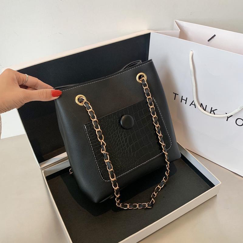 Women's Winter Shoulder Bag Texture Bag 2020 PU Fashionable And Versatile Messenger New Bucket Simple Fashion NewI CIPN Fditc