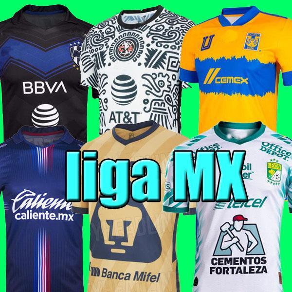 Liga MX 21 22 22 22 Club América Futebol Jerseys Terceiro 2021 2022 México Xolos de Tijuana Tigres Unam Homens Crianças Chivas Cruz Azul Futebol Camisas