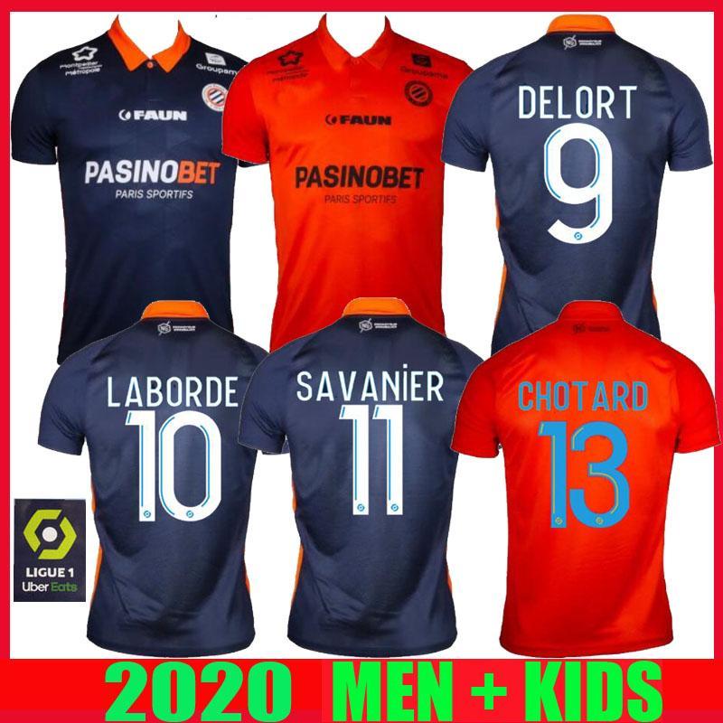NCAA Nuovo 20 21 Montpellier Soccer Jerseys Herault Home Away Skhiri 2020 2021 Maillot deley # 11 Savanier Lecomte Laborde Delort Football SH