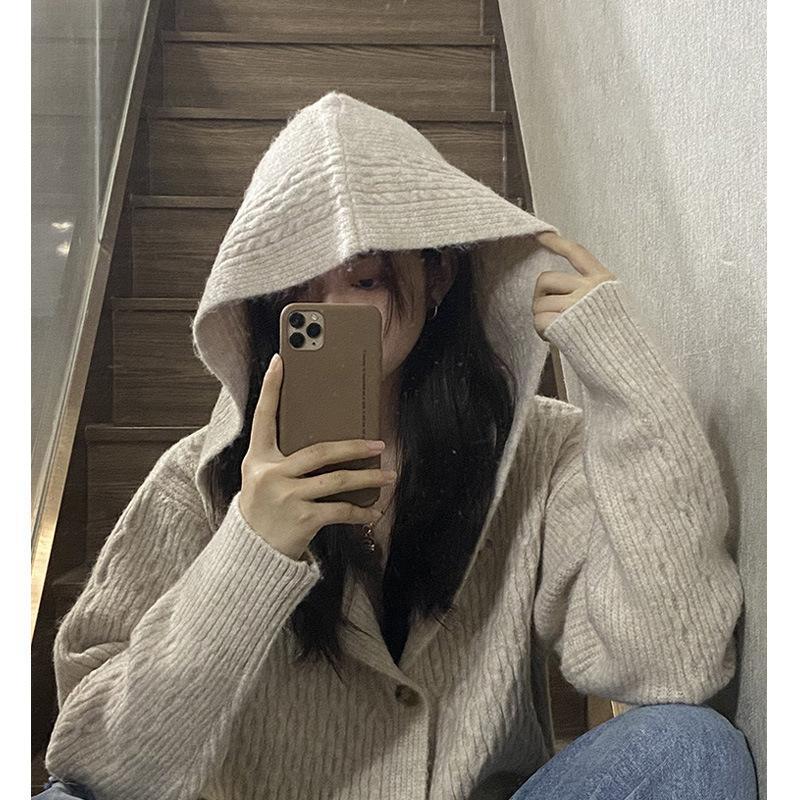 Dames Cardigan Pull tricoté Automne et hiver Pull à manches longues à manches longues Cardigan Casual Streetwear Fashion