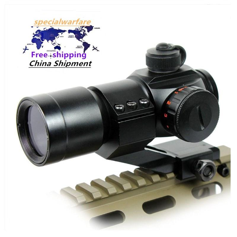 Tactical M3 rosso verde Dot Riflescope Ottica militare Scope Airsoft Giacca a vento