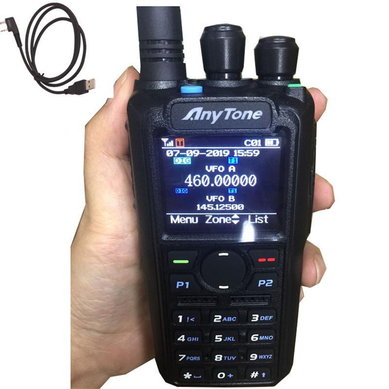 워키 토키 anytone / freepass at-D878 UVDMR 디지털 + 아날로그 듀얼 주파수 듀얼 모드 APRS GPS 위치
