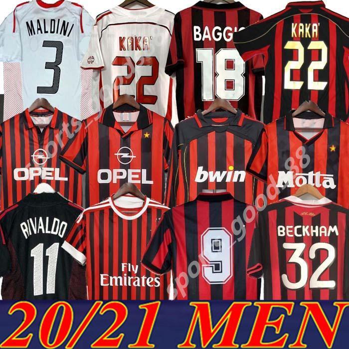 Ретро Classic 1991 92 93 94 96 97 98 99 94 96 97 98 99 2000 01 02 03 04 2006 2007 Милан футбол для футбола Pirlo Maldini Kaka AC 09/10 Ретро футболка