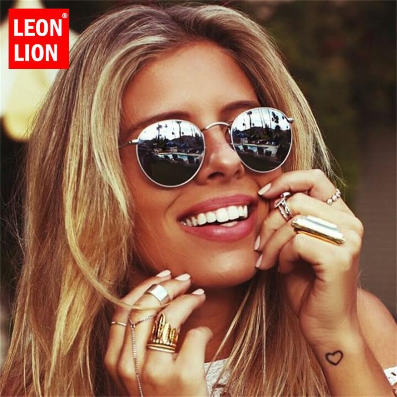 Leonlion Luxe Frauen / Männer Designer Oculos Lady Ronde Glas Sonnenbrille Retro 2020 Vintage Spiegel Marke de Sol Gafas BPMSV
