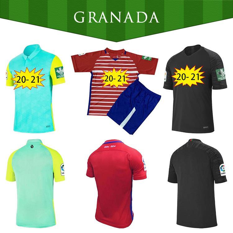 Hombres + Niños 2020 2021 Top Calidad Herrera Antonio Puertas Granada Jerseys 20 21 Granada CF Hogar lejos Tercer Soldado Camisetas de fútbol