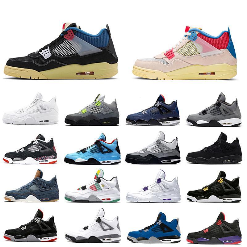 4 رجل كرة السلة الأحذية الصبار جاك الملوك الأسود القط نقية المال الاسمنت 4 ثانية الرجال النساء المدربين الرياضة أحذية رياضية