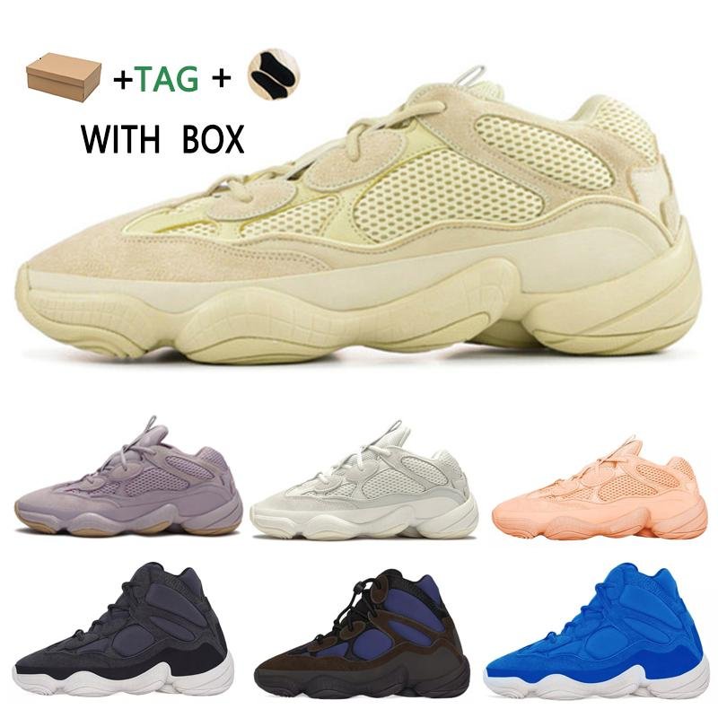 2021 كاني غرب 500 رجل عداء الأحذية الرؤية الناعمة حجر العظام أبيض فائدة سوداء سوبر القمر الأصفر عاكس الرجال النساء في الهواء الطلق أحذية رياضية