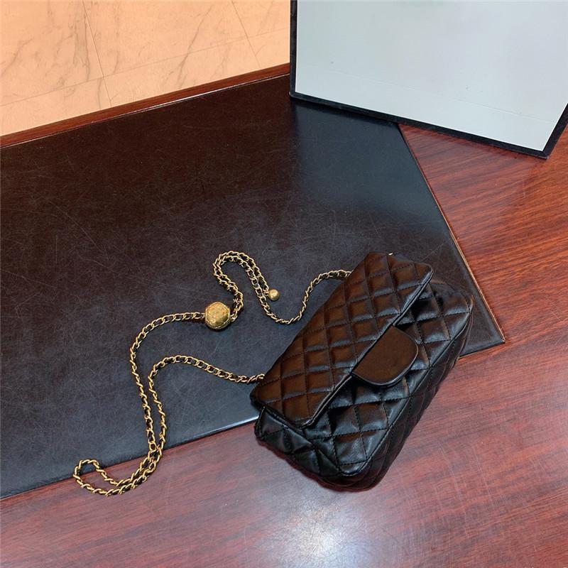 Borsa Luxurys ben noto catena ad alta pelle Doppia signore Designer Brand Wallet Designer Messenger Bag Lady Handbag Quality Spalla Aek Etqp