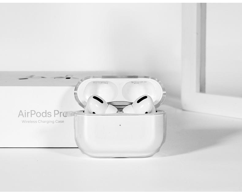 واضح TPU غطاء حالة واقية لينة ل iPhone airpods برو سماعة لاسلكية سيليكون airpod حامي حقيبة القضية