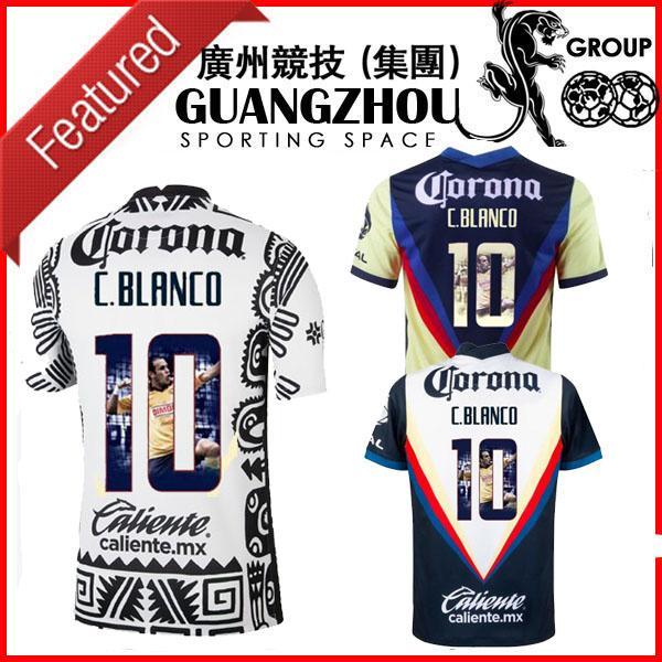 2020 2021 Club DS America Home Third C. Blanco 10 Jerseys de football Spécial 20 21 Jersey Slim Fit avec galerie Impression de Jersey Erappe Shirts