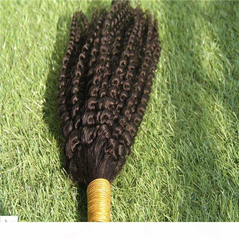 Dunkelbraune farbe peruanische verworrene lockige welle 1 stücke 100g 100% menschliches haar geflechtende bulk kein schuss 10 - 30 zoll unverarbeitete Haare
