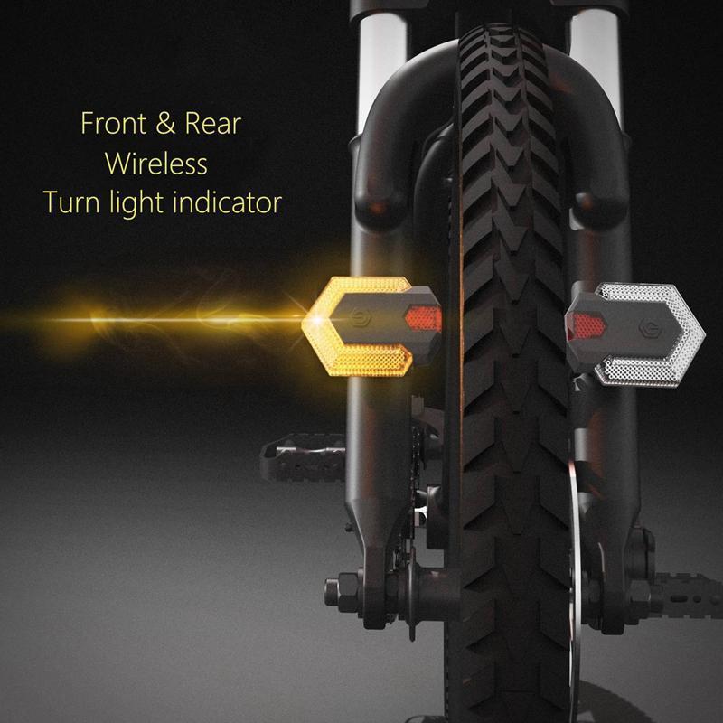 Akıllı kablosuz uzaktan kumanda ile bisiklet dönüş sinyalleri Bisiklet kuyruk ışıkları Ön ve arka bisiklet uyarı lambası