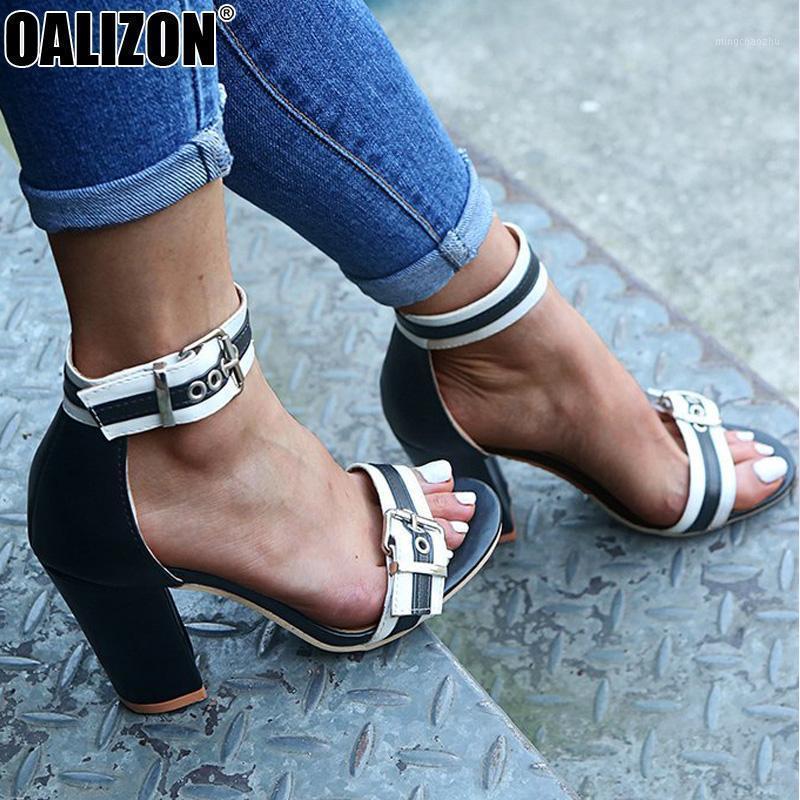 Vestido Zapatos de verano Mujeres Hebilla Correa Peep Toe Casual High Chunky Tacones Plataformas Mujer Gladiador Roman Lady Sandals R2461