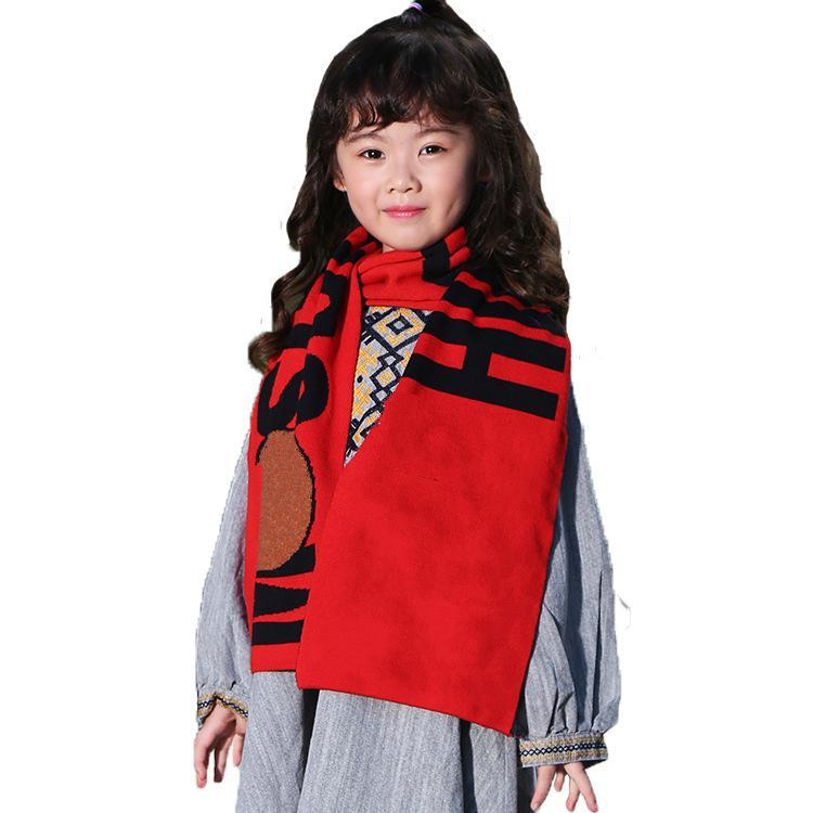 Junge Mädchen Schal Kinder wickelt lange 22 * 140 cm