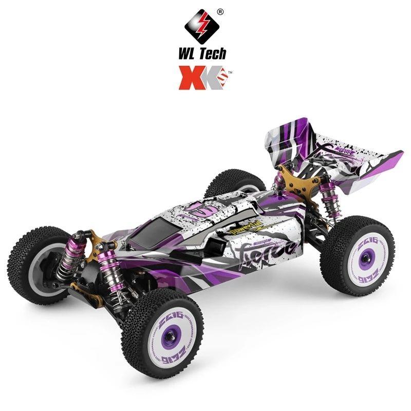 WLTOYS 124019 RTR 1/12 2.4G 4WD 60 км / ч металлический шасси RC автомобиль 550 матовый двигатель внедорожник восхождение для детей детские игрушки рождественский подарок 201218