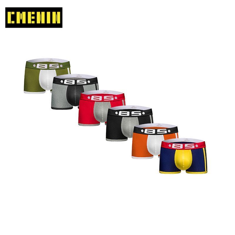 Sous-vêtements CMenin 6pcs / Lot coton Boxer Boxer Boxers Imprimer Soft Sexy Sexy Souswear BoxerShorts Top Panties BS70