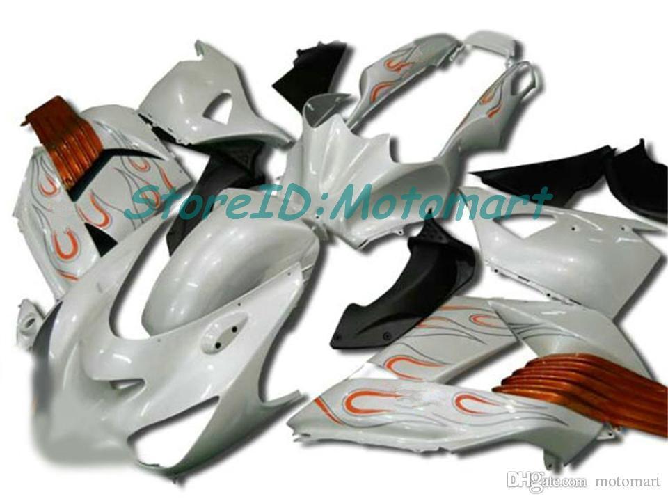 Cuerpo para Kawasaki Ninja ZZR1400 14 R ZX14R 06 07 ZZR 1400 ZX-14R ZX 14R 2006 2007 Carreying ZX14R005