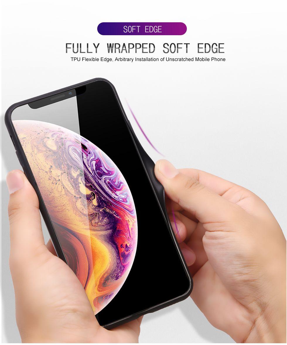 Couleur de luxe AURORA Cas en verre trempé pour iPhone 7 8 Plus iPhone X 10 11 PRO XR XS MAX 7 6 6S Plus