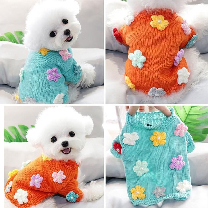 الزهور سترة الكلب الملابس الشتاء الدافئة الكلب الملابس سترة هوديي معطف chihuahua يوركشاير الصغيرة المتوسطة الكلاب روبا بيرو