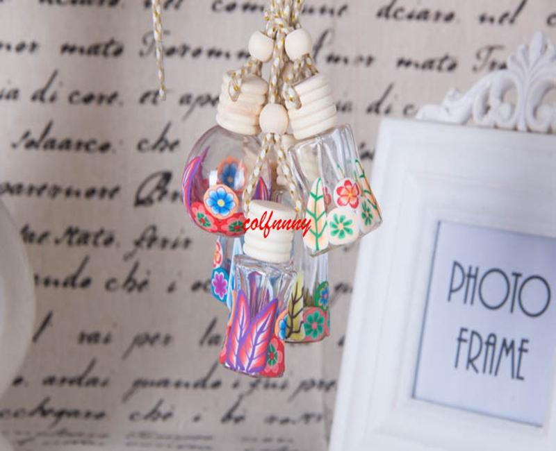 100pcs/lot Fast Shipping The new high-grade natural hanging pottery clay pendant car perfume bottle FXS10