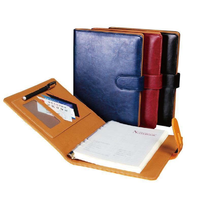 Journal e caderno da capa de couro do PU de alta qualidade, cadernos de presentes do negócio do escritório.