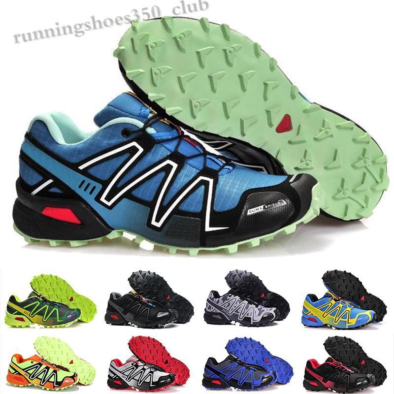 Salomon Speed Cross 3 4 2020 Новый скоростной крест 3 CS Открытая обувь для мужских высочайшего качества черная белая дышащая атлетика обувь спортивные кроссовки 40-46 TQ06