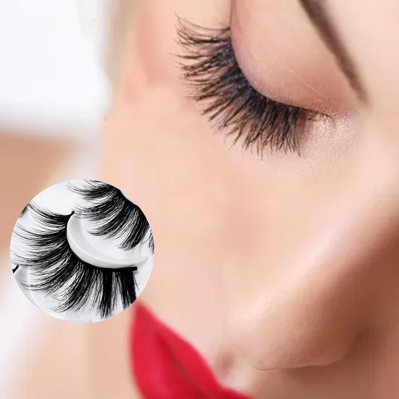 False Reelashes 20 Пары 6D Faux Mink Волосы натуральные Поддельные Удлинительные материалы Макияж Макияж Макияж Салон красоты Инструмент