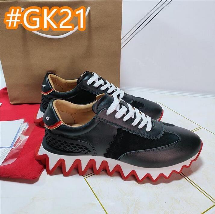 2020 Desiner Womens Mens повседневные туфли дизайнерские шипы красные нижние кроссовки сетки лоскутное матовое кожаное преодоление