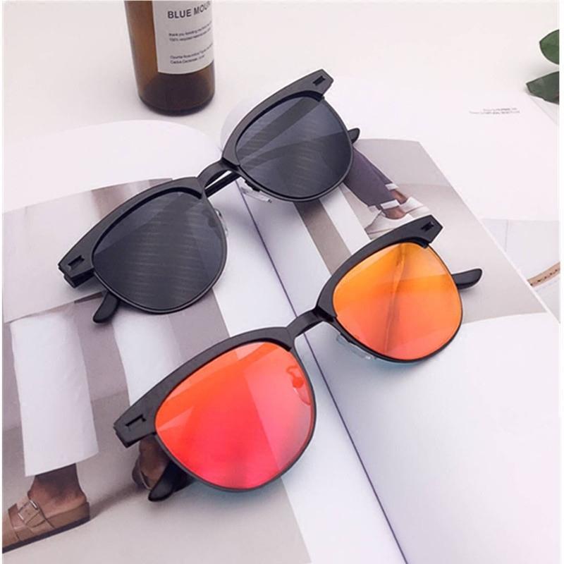Sonnenbrille Männer Persönlichkeit Vielseitige Halbframe Chaozhou Polarisierte Sonnenbrille Square Star Dieselbe Sonnenbrille Spiegel