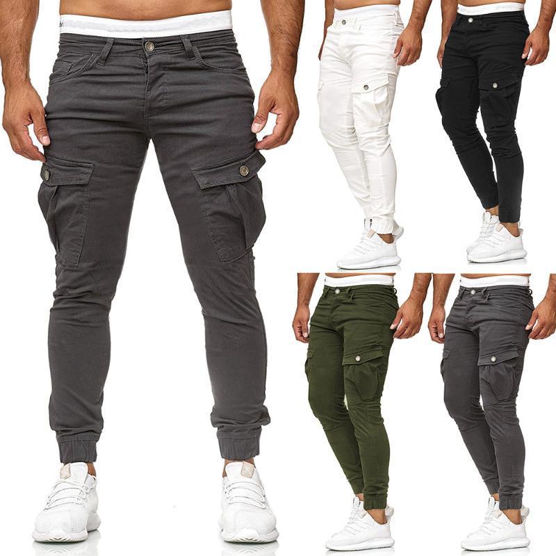 Mens Camuflagem Calças de Carga Elástico Múltiplo Bolso Masculino Calças Ao Ar Livre Calças Pant Plus Size Tactical Calças Homens