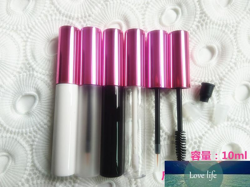 10ML пустые прозрачные пробирки для губной лоссы косметические туши белые контейнеры для глаз подводка для глаз жидкости пополняемая черная бутылка матовый