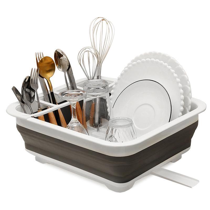 Plaque pliable Cuisinière Support de rangement Cuisine Bol à vaisselle Vaisselle Plaque Portable Séchage Rack Home Shelf Tarif Organisateur