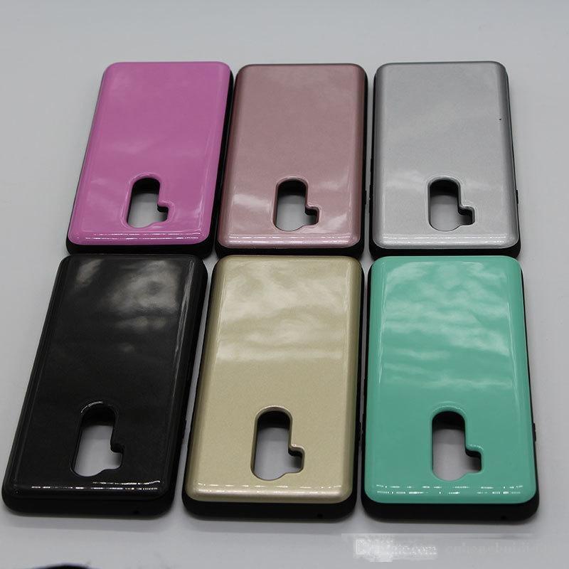 Coperchio della cassa del telefono della carta della spina antiurto per LG V40 V30 G7 Inunction 2 in 1 copertina posteriore oppbag